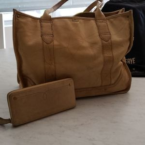 Frye Large Tote and Wallet